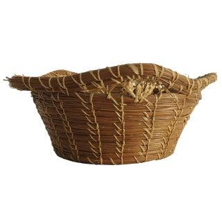 Rustic Pine Needle Basket
