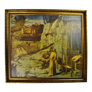 Vintage Giovanni Bellini Framed Print on Board The Ecstasy of St. Francis