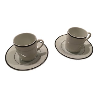 Tiffany & Co. By Taitu Porcelain Demitasse Cups & Saucers - a Pair
