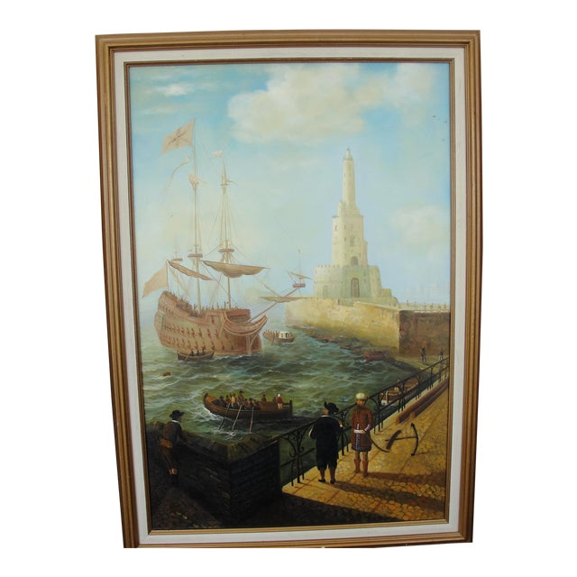 """""""Merchant Ship in Port"""" Painting - Image 1 of 10"""