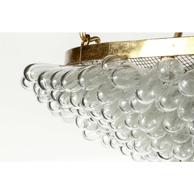 Large Blown Glass Beaded Chandelier - Image 5 of 9