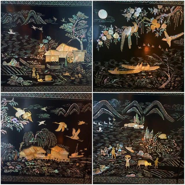 "1970's Asian Lacquer & Pearl ""Oshi-Ire"" Wardrobe Closet - Image 6 of 8"