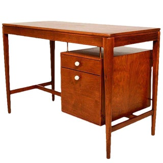 Mid-Century Modern Walnut Desk by Drexel