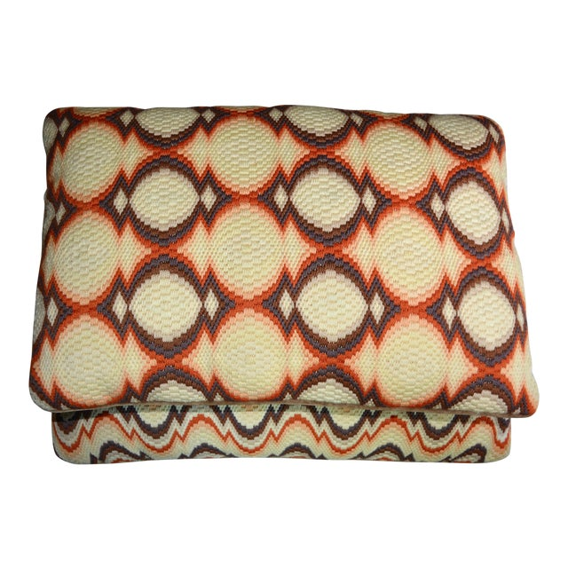 1970s Needlepoint Geometric Pillows - a Pair - Image 1 of 7