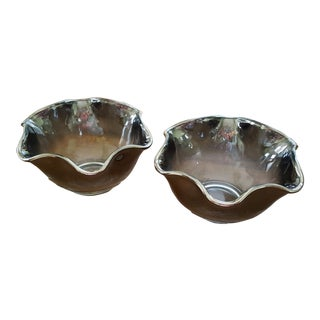 Dorothy Thorpe Style Silver Fade Bowls - Set of 2
