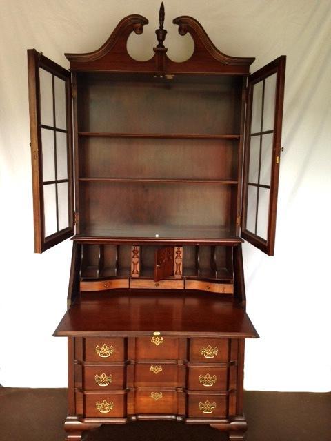 Vintage Jasper Cabinet Mahogany Secretary Desk   Image 3 Of 10