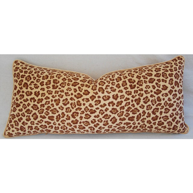 Leopard Velvet Lumbar Body Pillow - Image 2 of 8
