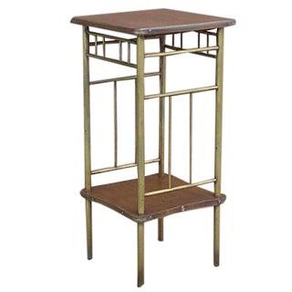 Rockhausen Art Deco Brass & Wood Side Table