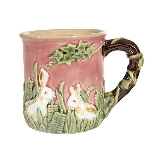 Majolica-Style Rabbit Motif Tea Set - Image 4 of 5