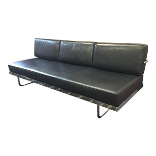 Le Corbusier Lc5 Style Black Leather Daybed