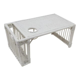 White Wicker Breakfast in Bed Tray