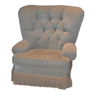 Odell Braggs Tufted Lounge Chair on Casters