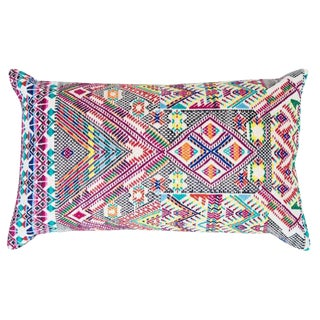 Guatemalan Multicolored Handwoven Pillow Cover