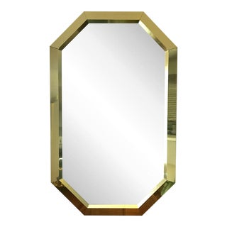Springer Style Brass Beveled Glass Mirror