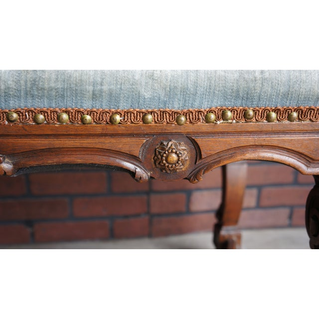 Antique French Provincial Bench - Image 6 of 9