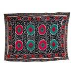 Vintage Brightly Colored Silk & Cotton Suzani Textile