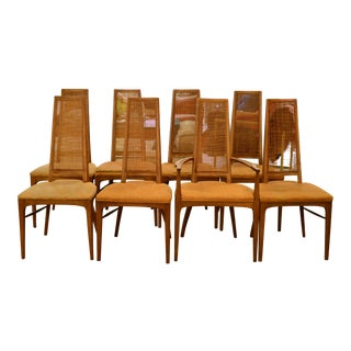 Lane High-Backed Cane Dining Chairs - Set of 8