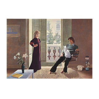 "1977 David Hockney ""Mr. and Mrs. Clark and Percy"" Tate Poster"