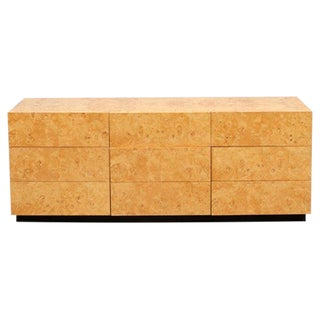 Mid-Century Olive Burl Dresser