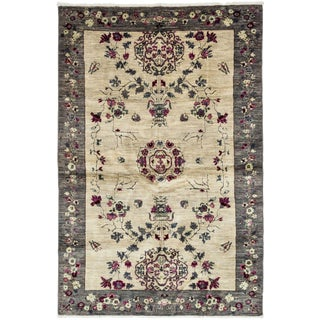 """Suzani, Hand Knotted Area Rug - 4' 10"""" x 7' 9"""""""
