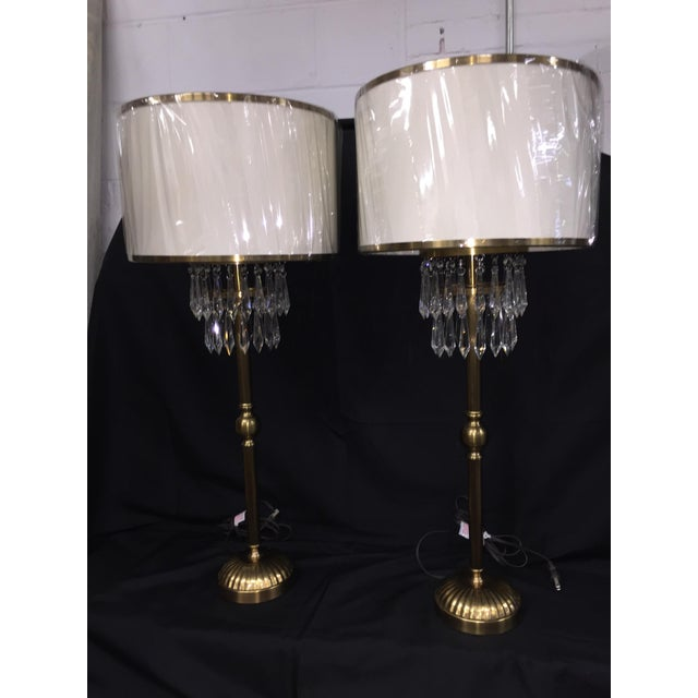 Currey And Company Side Tables: Currey & Company Crystal & Brass Table Lamps