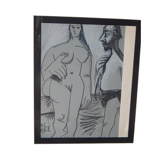 "Pablo Picasso ""Painter and His Model"" Lithograph"