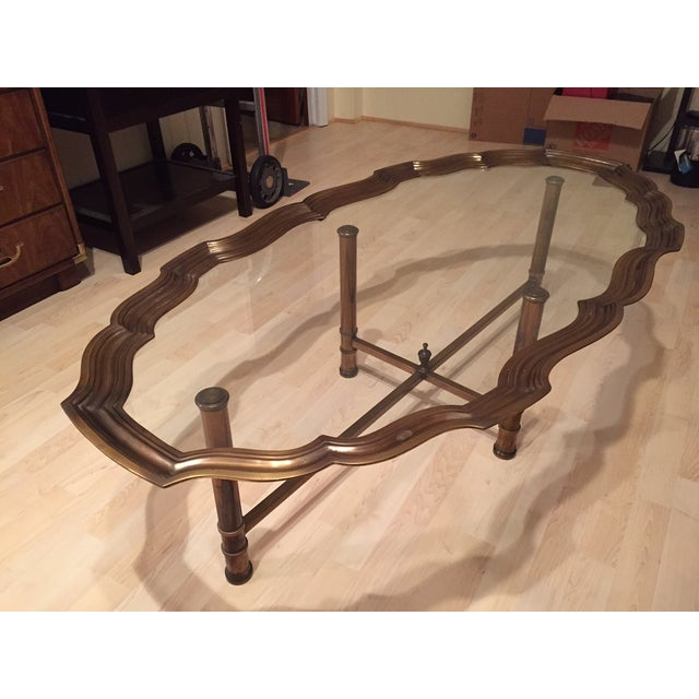 Pie Crust Brass Coffee Table - Image 2 of 5