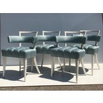 Image of Set of Four Billy Haines Biscuit Tufted Side / Dining Chairs