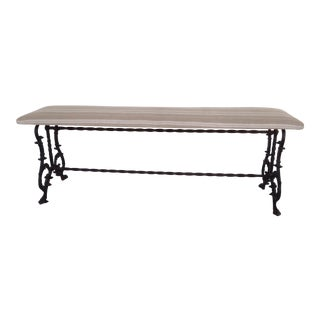 Iron Bench With Upholstered Seat