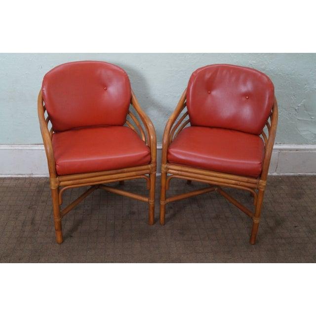 Brown Retro Jordan Rattan Dining Chairs - Set of 6 - Image 2 of 10