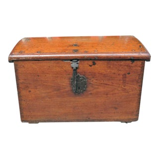 Late 17th C Cuban Mahogany Trunk