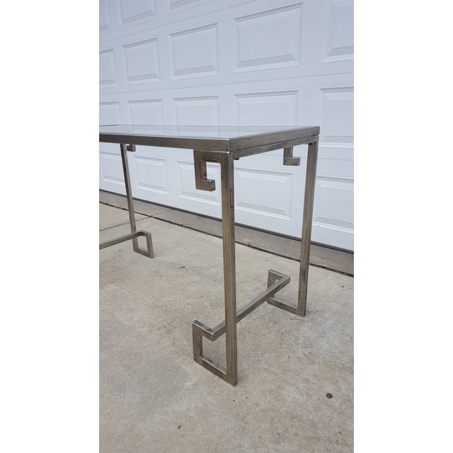 Greek Key Console Table - Image 3 of 4
