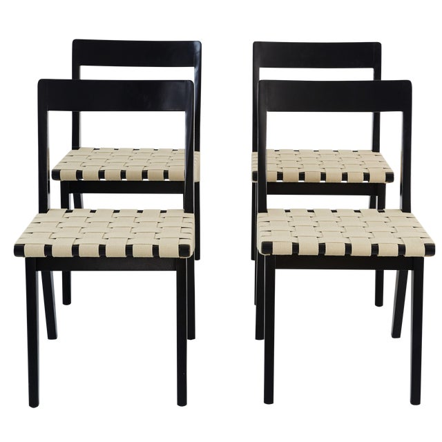 Jens risom for knoll dining chairs 4 chairish - Jens risom dining chairs ...