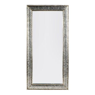Handmade Silver Metal Moroccan Queen Mirror