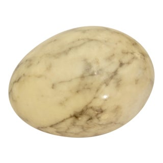 Italian Marble Egg Paperweight
