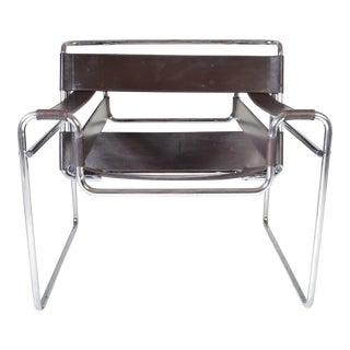 Vintage Marcel Breuer Brown Wassily Chair