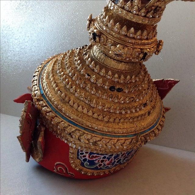 Image of Antique Thai Demon Khon Mask