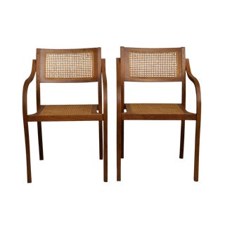 Caned Bentwood Chairs - a Pair