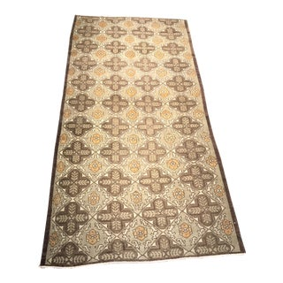 "Bellwether Rugs Vintage Turkish Oushak Short Runner - 4'3"" X 8'10"""