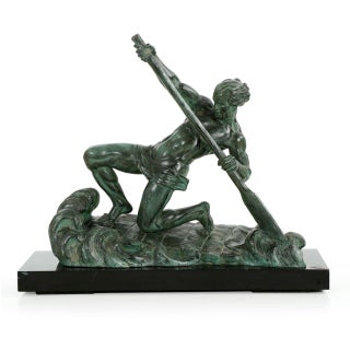 "Art Deco Period Sculpture of ""The Rower"" by Alexandre Ouline, C.1930"
