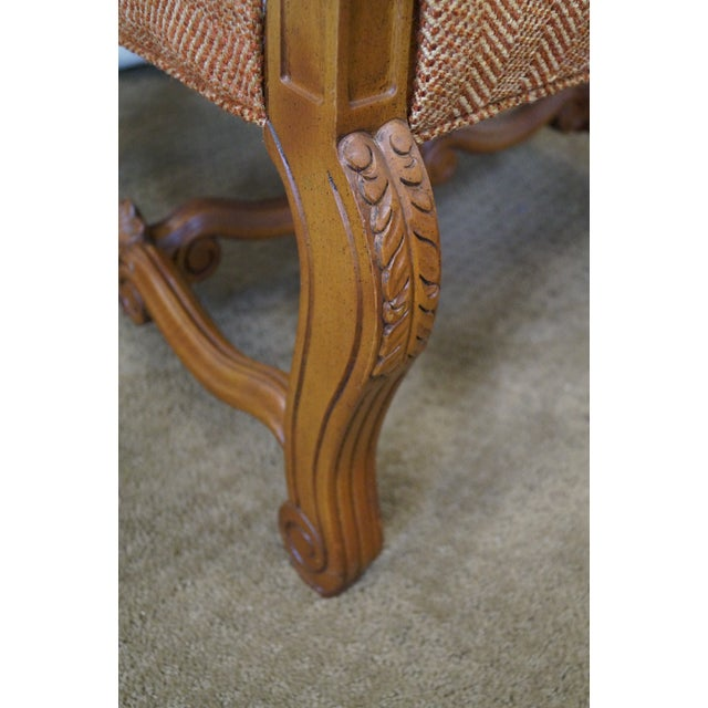 Quality Renaissance Style Carved Frame Arm Chair - Image 6 of 10