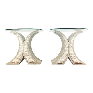 Maitland-Smith Tessellated Stone Side Tables - A Pair
