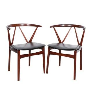Danish Modern Dining Chairs by Henning Kjarnulf