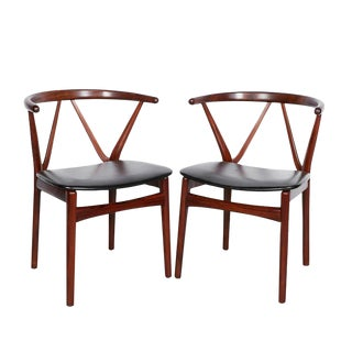 Danish Modern Dining Chairs by Henning Kjarnulf