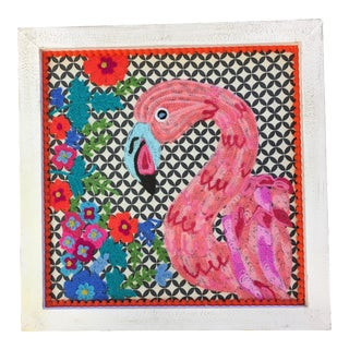 Flamingo Textile Art
