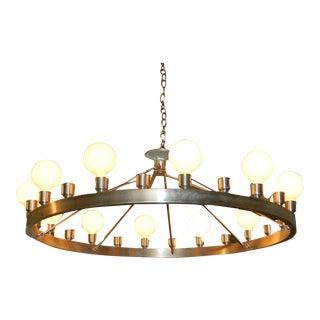 Industrial 24-Light Chandelier
