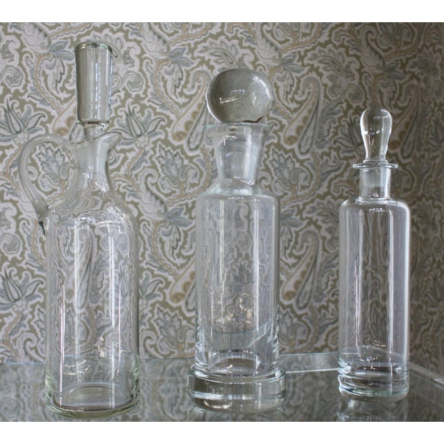 Vintage Glass Decanters - Set of 3 - Image 3 of 3