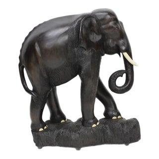 Large Carved Indian Elephant.
