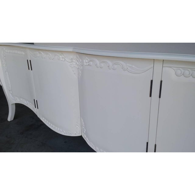 French Provincial Farmhouse Style White Buffet - Image 6 of 7