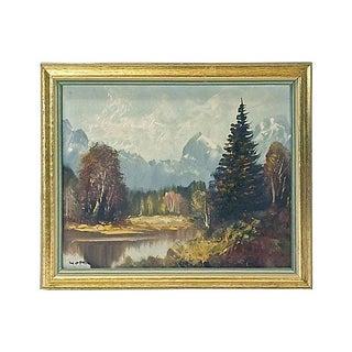 Antique Hofer Mountain Landscape